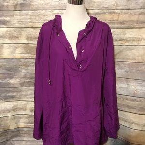 Purple windbreaker jacket
